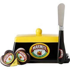 Marmite butter dish Marmite, Chicken Soup, Marketing Materials, Corporate Gifts, Butter Dish, Afternoon Tea, Wine Recipes, Don't Forget, Nom Nom