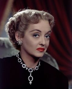 "Bette Davis in ""Payment on Demand"" 1951 wearing Joseff Hollywood Jewelry"