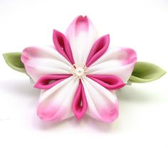 Kanzashi Tutorial How To Make A Fabric Flower Picture