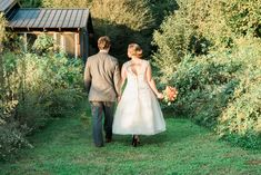 Ellie and Bill strolling through the gardens @ Khimaira Farm