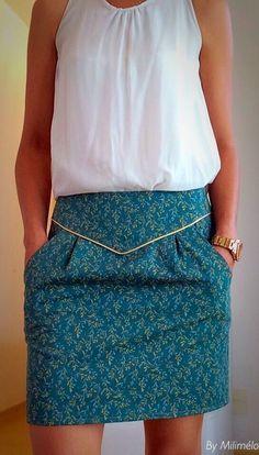 Blog sur la couture - blog sobre a costura  Pour modifier ma jupe poulette