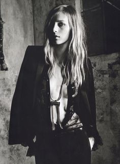 Ad Campaign: Saint Laurent Paris Spring/Summer 2013  Model: Julia Nobis  Photographer: Hedi Slimane
