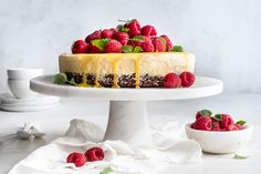 Norwegian Food, Ice Cake, Bbc Good Food Recipes, Bread And Pastries, Pavlova, Sorbet, Parfait, Frosting, Cheesecake