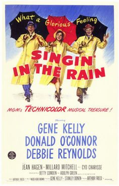 Singin' in the Rain is the beloved musical classic starring Gene Kelly. Read all about the film, its influence, cast and behind the scenes facts here. The Rain Movie, Singing In The Rain, Love Movie, I Movie, Classic Movie Posters, Classic Movies, Classic Tv, Film Posters, Old Movies