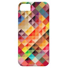 Colorful Abstract Geometric iPhone 5 Cover