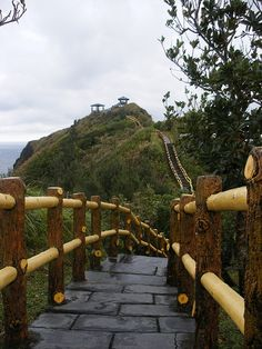 Scenic coastal walkway in Green Island, Taiwan~~I love this place~~Went there so many times!
