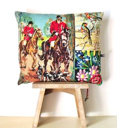UNIQUE French Needlepoint Tapestry & Antique by Retrocollects