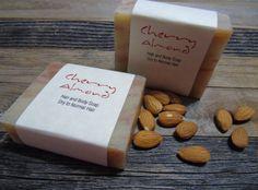 Premium 2X Natural handmade Vegan Soap , Olive Oil, Shea,  GMO FREE Cherry Almond