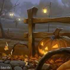 Vintage Halloween Fabric - Happy Halloween By Torysevas - Vintage Retro Halloween Pumpkins Bats Cott