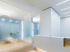 Treatment Room w/ Glass Partitions and Reception Desk - Dental Clinic