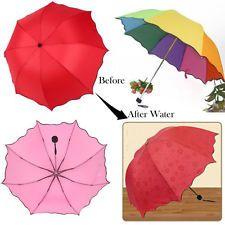 Fashion Colorful Anti-UV Parasol Flower 3 Folding Sun/Rain Windproof Umbrella