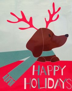 Dachshund Celebrating. Inspired? More Happy Holidays at http://www.learnyourchristmascarols.com/2010/12/happy-holidays.html #christmasmusic