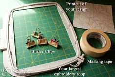 How to Quilt Using your Embroidery Machine by MagnoliaFly, via Flickr.  If you haven't used binder clips to quilt on the embroidery machine, you should try it.  It makes it SEW much easier!
