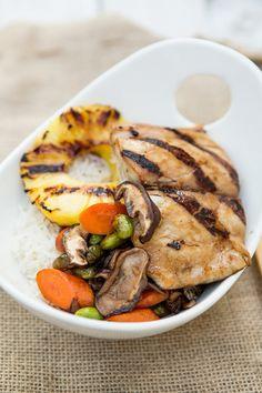 Teriyaki Mahi Mahi with Vegetables and Coconut