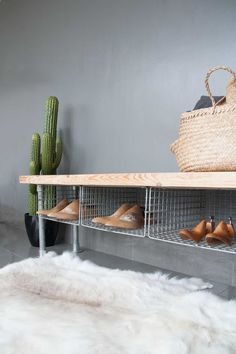 look at this amazing idea for all those messy shoes under the stairs made by us at ineko home our 3 seater wire shoe rack bench is the perfect