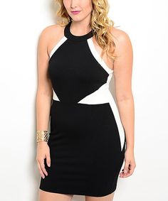 Look what I found on #zulily! Black & Ivory Color Block Yoke Dress - Plus by Curvy Lily #zulilyfinds