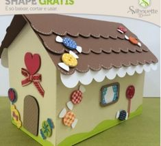 FREE DIY 3D cut file » Shape 35: Casa João e Maria - from Silhouette Brasil hansel and gretels witches house gingerbread halloween christmas fairy tale girl princess favour box gift treat decoration