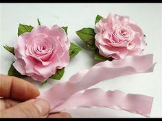 Я в восторге от этих розочек из фоамирана🌸DIY / МК Простой способ Paper Flower Tutorial, Paper Flowers Diy, Diy Paper, Fabric Flowers, Ribbon Crafts, Diy Crafts, Ribbon Work, Icing, Scrapbook