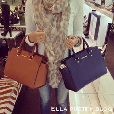 Ella Pretty: Bag Review: A Closer Look at the Michael Kors Selma Top-Zip Satchel in Luggage