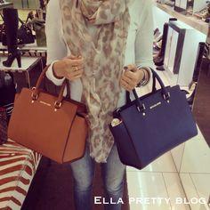 Ella Pretty: Bag Review: A Closer Look at the Michael Kors Selma Top-Zip Satchel in Luggage