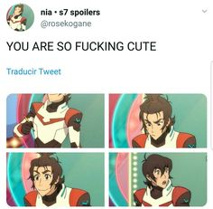 This fandom makes the weirdest fucking textposts I've ever seen and they never fail to make me laugh Form Voltron, Voltron Ships, Voltron Klance, Voltron Comics, Voltron Memes, Keith Kogane, Ninja, Space Cat, Anime