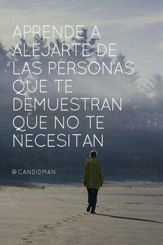 Aprende a olvidar a las personas que no te necesitan