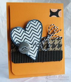 Jazzy Paper Designs: Chevron Heart  cute moustache flair from bossy joscie