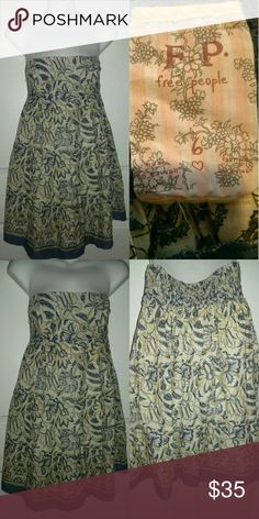 Free People Tunic / Dress Size 6 Vintage Floral Free People Size 6. It is super thin and lightweight. This may also be worn as a mini dress. ?? Sleeveless with stretchy fabric to hold it in place. Excellent Condition. Free People Tops Tunics