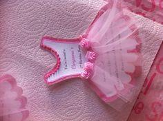 Chrysaeus's ballerina invitations!