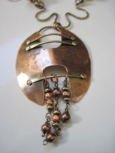 Pure Copper and Brass Designed Necklace and by thedancinggecko, $98.00