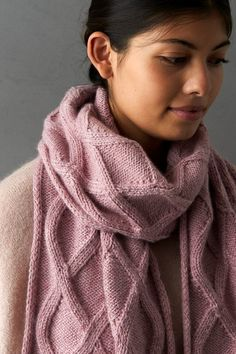 Ravelry: No-Cable Cable Scarf pattern by Purl Soho Cable Knitting Patterns, Knitting Stitches, Scarf Patterns, Knit Or Crochet, Crochet Scarves, Knitting Scarves, Hat And Scarf Sets, Purl Soho, How To Purl Knit