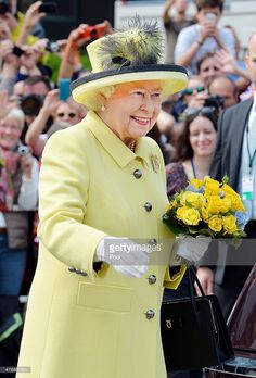 Queen Elizabeth II waves to well wishers after a short walkabout on the Pariser Platz close to the Brandenburg Gate on the final day of a four day State Visit to Germany on June 26, 2015 in Berlin, Germany.