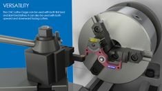 CNC Lathe Gage 13-000 - Edge Technology Mini Cnc Lathe, Lathe Tools, Glass Vials, Technology, Tech, Tecnologia