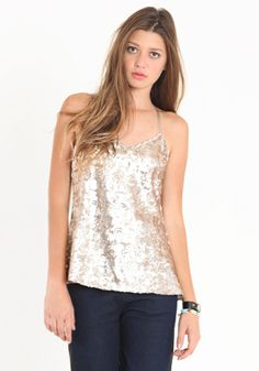 Threadsence  Sparkle and Shine Sequin Tank