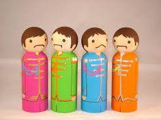 The Beatles..Sargeant Pepper's peg Dolls