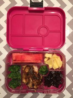 Pack fresh fruit and vegetables with whatever leftovers you have, and it'll feel like you're eating a whole new meal.