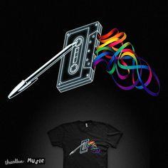 VOTE??? >>> https://www.threadless.com/designs/mixtape-15  #music #tape #mixtape #pinkfloyd #darkside #album #cover #lp #vinyl #nostalgia #radio #song #darksideofthemoon #rainbow #color #vo_maria #threadless #artsxdesign #designinspiration #picame...