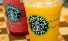 Starbucks Strawberry Banana, or Orange Mango Smoothies are very popular, and yummy! Starbucks Secret Menu Drinks, Starbucks Frappuccino, Starbucks Recipes, Starbucks Coffee, Hot Coffee, Fruit Drinks, Beverages, Frozen Drinks, Secret Recipe