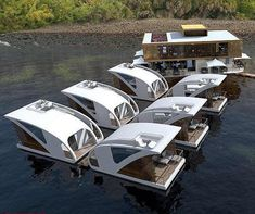 Source Mini couple use water floating houseboat drive boathouse with motor on m.alibaba.com Container Design, Container Size, Container Restaurant, Permanent Residence, Portable House, Floating House, Steel Structure, Prefab Homes, Types Of Houses