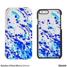 Splashes of Paint Blue Incipio iPhone Wallet Case