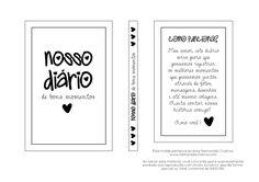 DIY - NOSSO DIÁRIO DE BONS MOMENTOS - NAMORADA CRIATIVA - MOLDE 011