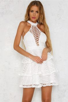 Vegas Nights Dress White