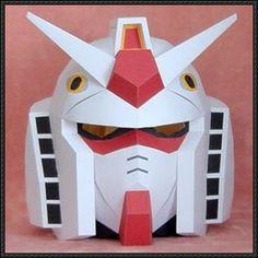 Life Size Gundam Helmet Free Papercraft Download - http://www.papercraftsquare.com/life-size-gundam-helmet-free-papercraft-download.html