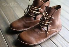 Retro Winter Handmade Short Boots for Women Made of Cowhide Leather – HZSW002 on Etsy, $89.00