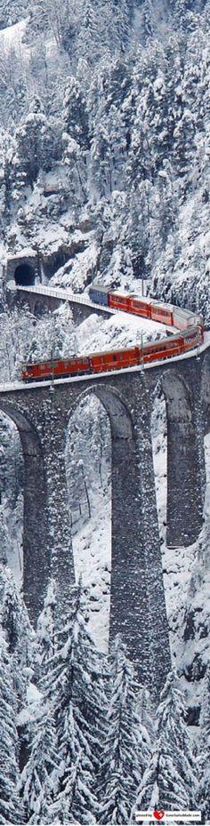 Landwasser Viadukt GR - Switzerland