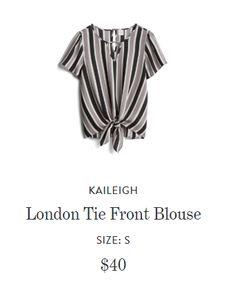 d685bb26a75a2 Kaleigh London Tie Front Blouse  StitchFixSummer2018 Tie Front Blouse