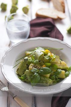 Тиквички с босилек, мента и лимон ♥ Zucchini with basil, mint and lemon