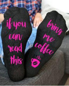 Bring me Coffee Socks Custom socks If you can read this bring me Coffee Socks     eBay