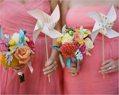 So love the idea of pinwheels for your wedding, brings back kid memories!