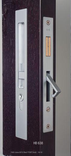Sliding Lock/Latch Sets - HB636 Sliding Door Lock - 250mm - HandB2012